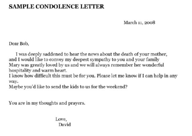نمونهی نامهی تسلیت
