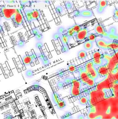 نقشه برداری و تجزیه و تحلیل داخل فروشگاه